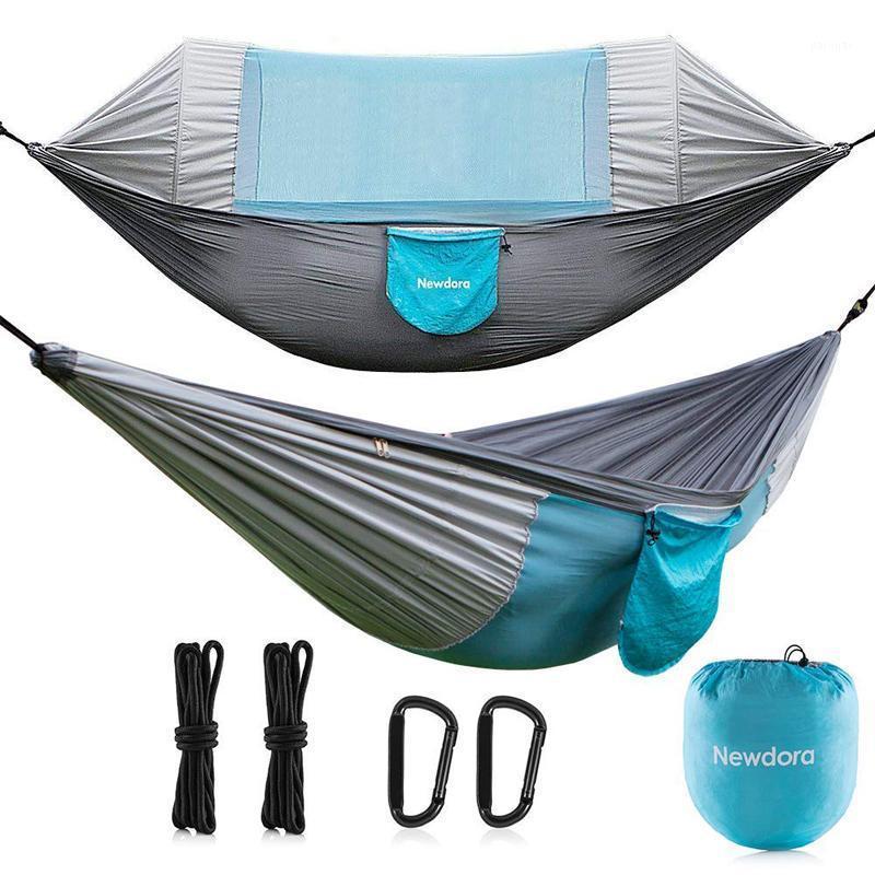 Hängematten Freizeit Reise Moskitonetz Hängematte Outdoor Camping Möbel Garten Swing Swing Stuhl Tragbare Hängende Bettwohnheim Weiche Geschenke1