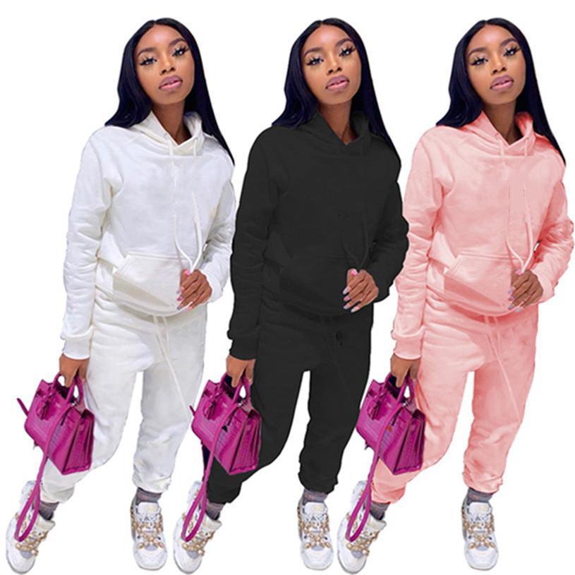 Женская мода осень зима повседневная одежда плюс размер с длинным рукавом брюки толстовки 3xL 2 части наборы пуловер капризов наряда кофты 4013