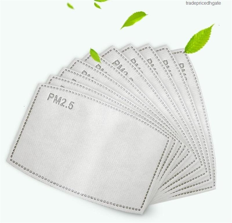 Activação de carbono livre PM2.5 shippack para máscara de filtro Substituição não-tecida Protetora Universal Respirável Soft Pad Substituível FYCA