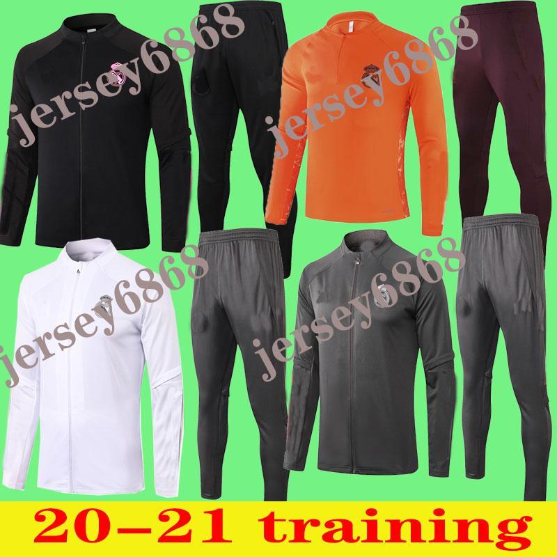 2020 202 2021 ريال مدريد الكبار تراكسويت الرجال لكرة القدم شاندال كرة القدم Tracksu 20 21 دعوى التدريب الكبار نحيل السراويل الرياضية