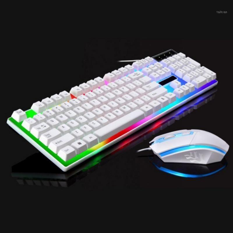Nuevo conjuntos de ratones del teclado de la computadora de la sensación mecánica de la iluminación del USB con cable para PS4 / PS3 / Xbox ONE y 3601