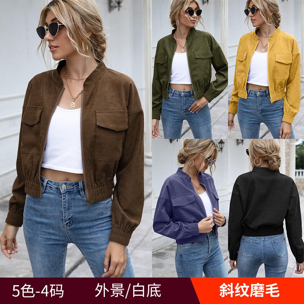 65Colour S-XL 여성 세련된 섹시한 가을과 겨울 캐주얼 짧은 코트 자켓 여성용 겉옷 코트 탑 43628754994333