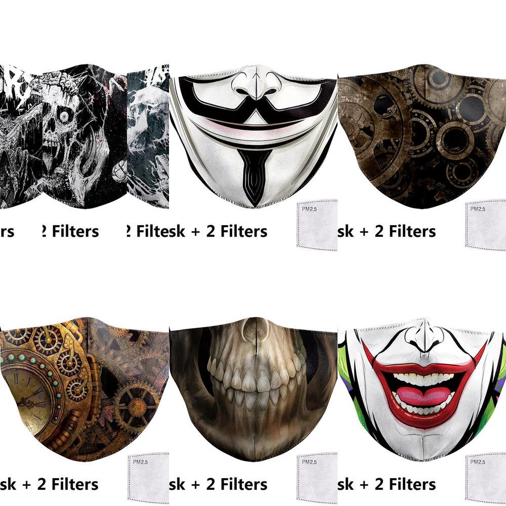 Fabric Big Mouth Print Funny Adult Masks Face Clown Mouth Cover Reusable Protection Dust W VAS91