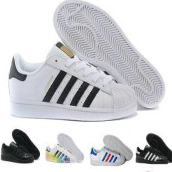 Envío gratis Superestrella Blanco Black Black Blue Gold Superstars 80s Sneakers Super Star Mujeres Deporte Zapatos casuales UE SZ36-45