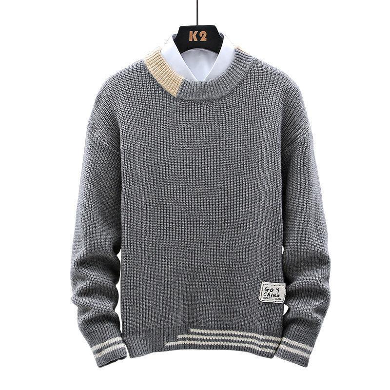 Otoño invierno nuevo grueso suéter de punto hombres de alta calidad clásico jersey hombres de gran tamaño ropa suave saltadores tirar homme