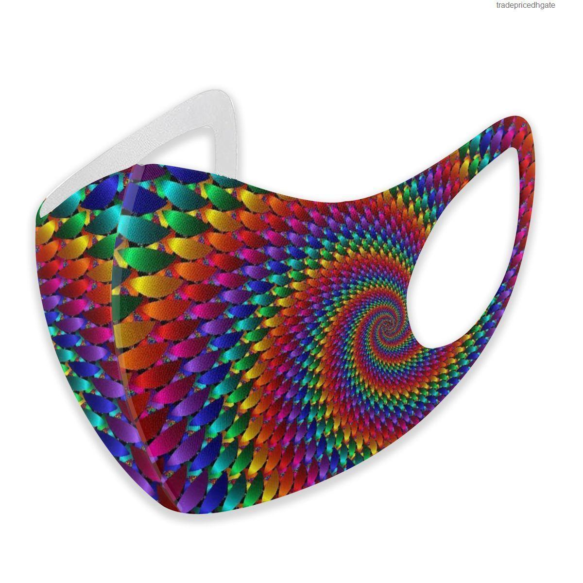 Ограничения The Dye Tie Supe Hippie Скупающаяся Маска для взрослых для взрослых детей Моющийся многоразовый анти загрязнение 1CF6P