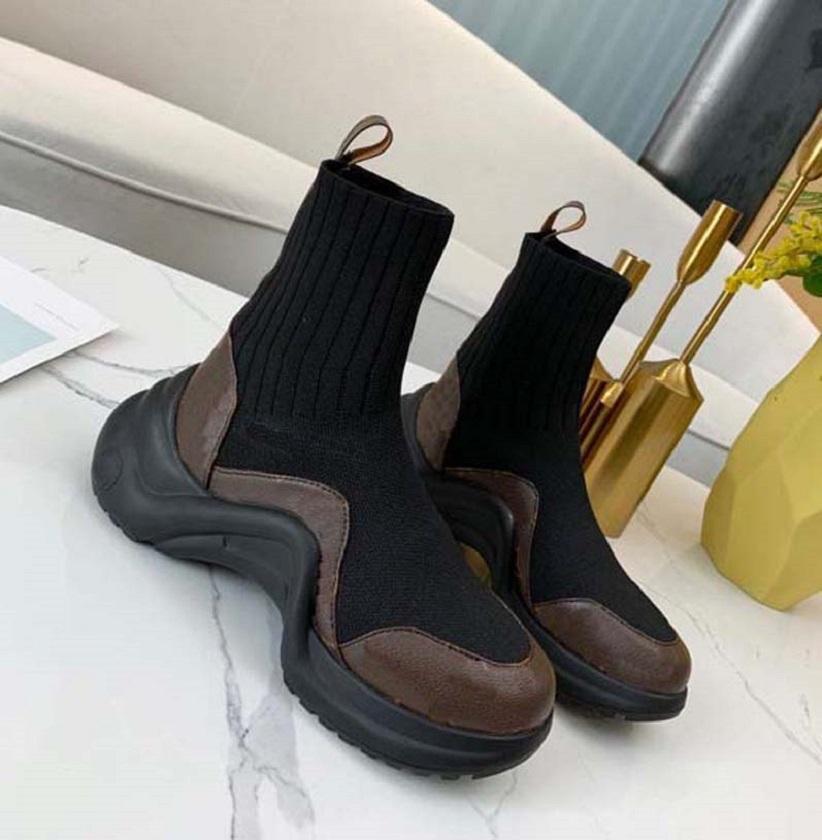 As últimas mulheres botas eletrônicas bordados combinando letras de cor Logotipo redondo cabeça média boot para bowboy booties home 03