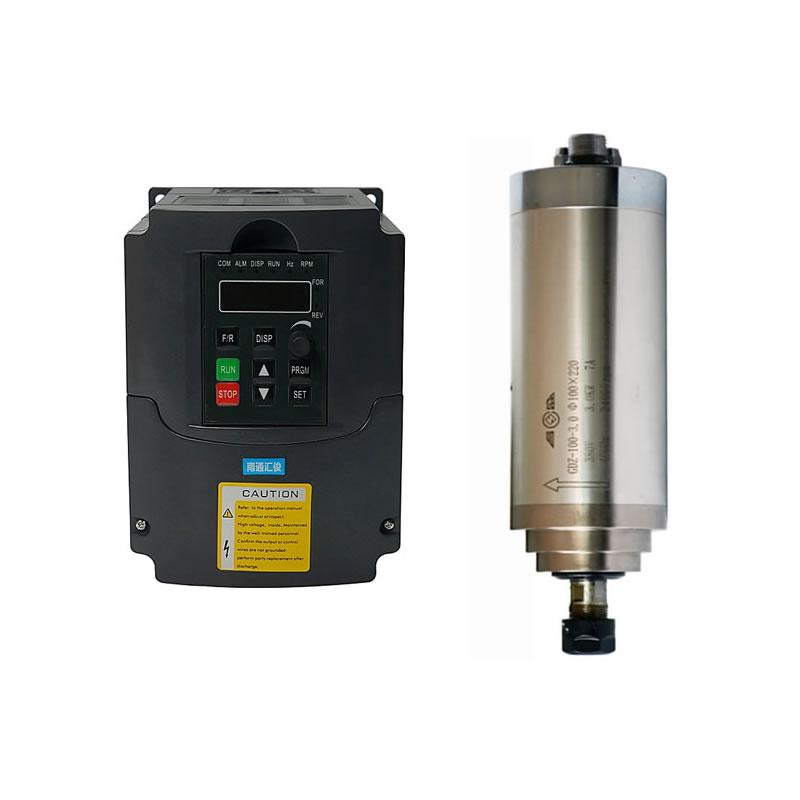 CNC Router Mil Motor 800 W 1.5KW 2.2KW ER11 ER20 Su Soğutmalı Kiti 1.5KW 2.2KW VFD Invertör 220 V 110 V CNC Freze Makinesi için