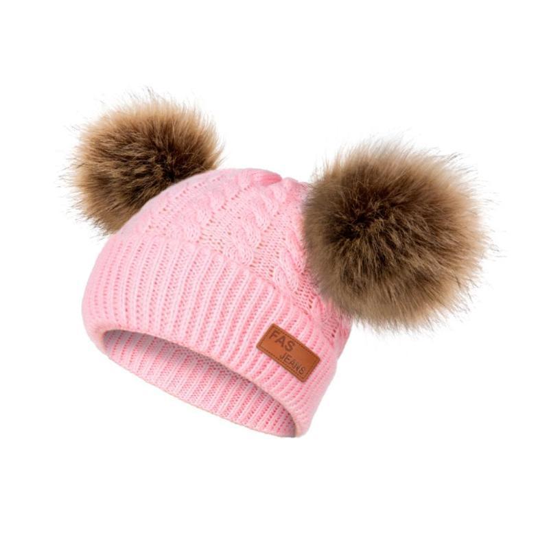 Gorras sombreros dmroles bebé invierno invierno niña cálido sombrero pom otoño y niño 0-3 años de edad para niños
