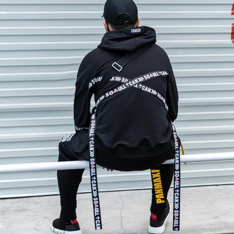 2021 Personalidad de otoño Hip Hop Streetwear de Rock Hiphop Hombres de sudaderas con capucha de gran tamaño con HOMBRE Sudadera Hood 1T7R