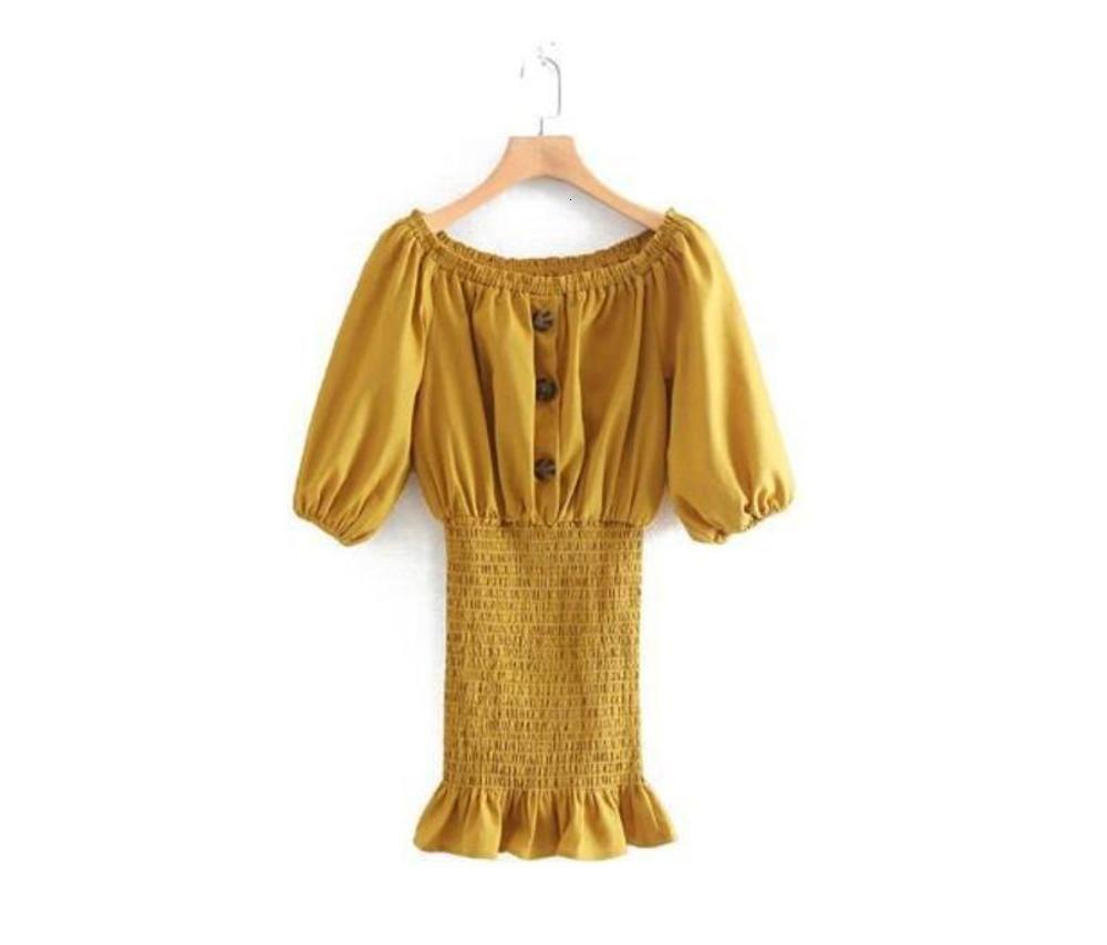 vestido de férias de novas mulheres Oi104