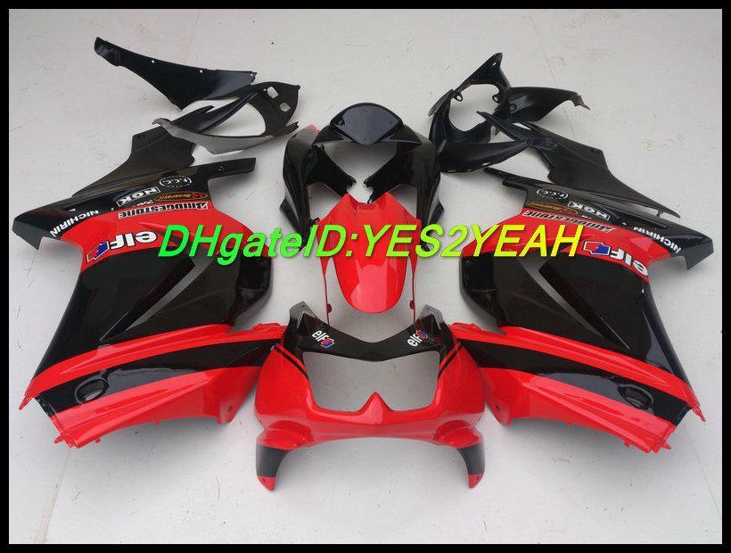Injektionsfeoking Body Kit för Kawasaki Ninja ZX250R ZX 250R 2008 2012 Bodywork ZX-250R EX250 08 09 10 12 Fairings KK01