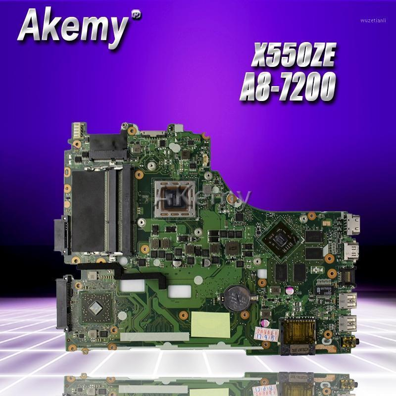 Akemy For Asus X550ZE K555Z A555Z X555Z X750/X550 Laptop motherboard A8-7200 CPU Mainboard with graphic card test good1