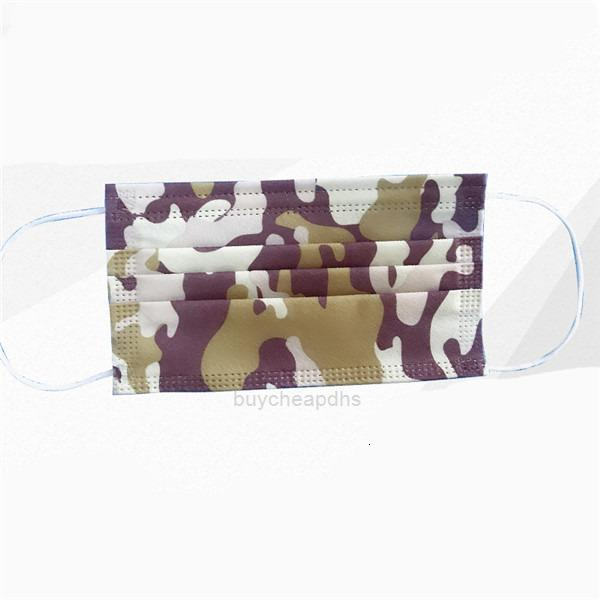 Boca 3 capas Imprimir Mascarillas de camuflaje CUBIERTA 3-PUSABLE DESECHIBLE DESECHO DESINGER MÁSCARA DE CARA DE CARA SOFT BEAXHSAWT