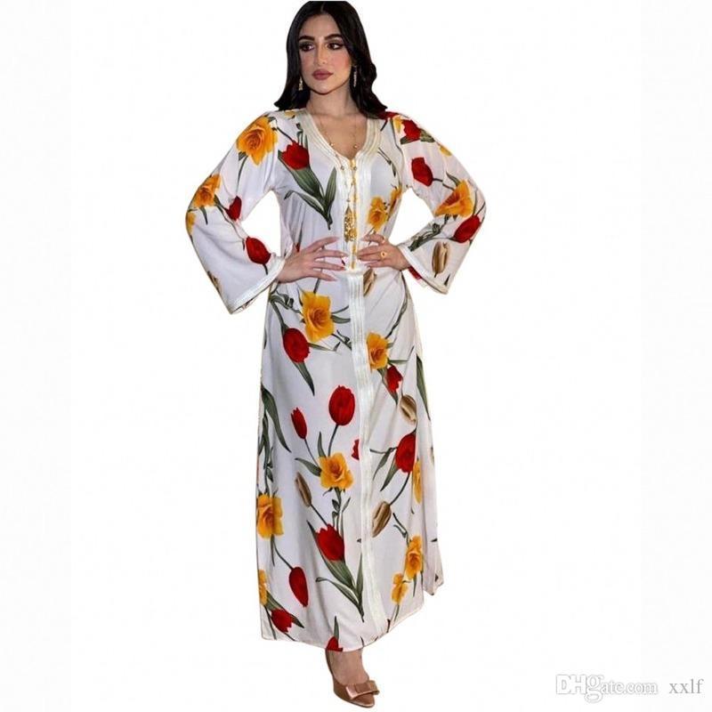 Kaftan Dubai Abaya Muslim Hijab Kleid Türkei Kleider Abayas Für Frauen Islam Vestidos Vetement Femme Robe Longue Musulman de Mode