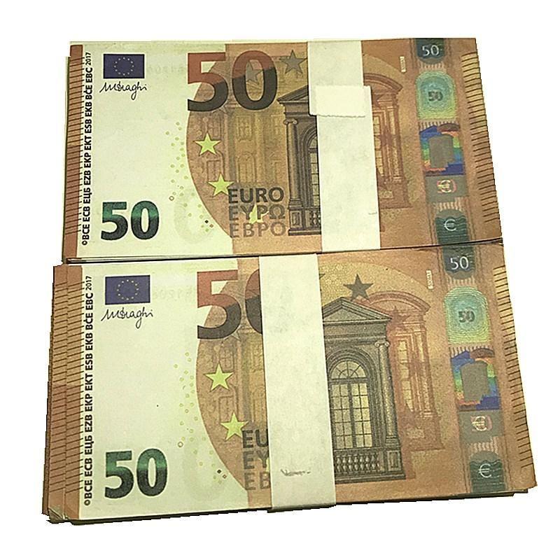 100 pz / pack Euro Guajo J3 Bra Euro Euro 100 Fake Dollars Money Movie 20 Prop Billet Play Valuta EUR EUR Faux Contraffazione denaro Aftan