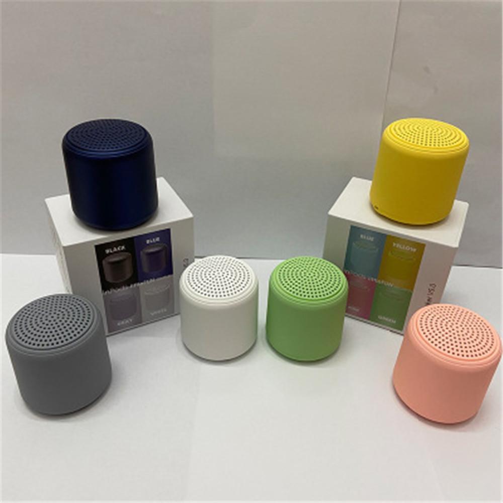 Mini Kablosuz Taşınabilir Bluetooth Hoparlör Macaron Küçük Çelik Cannon Stereo Ses Hoparlörler Bilgisayar Cep Telefonu için 400 mAh Pil Kapasitesi