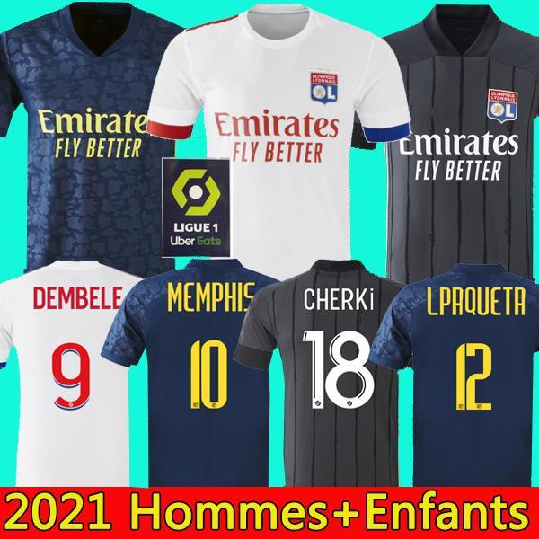 20 21 Olympique Lyonnais lyon camisetas de fútbol 2020 2021 maillot de Lyon camiseta de fútbol TRAORE MEMPHIS OL lyon hombres Camisetas niños