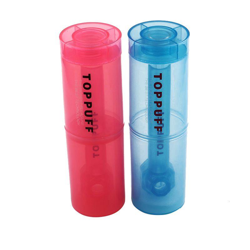 Kunststoff-Wasser-Rohr-Tabakrohre 124mm tragbare zylindrische Kunststoff-Wasserrohr-Kunststoff-Tasse Raucherrohre