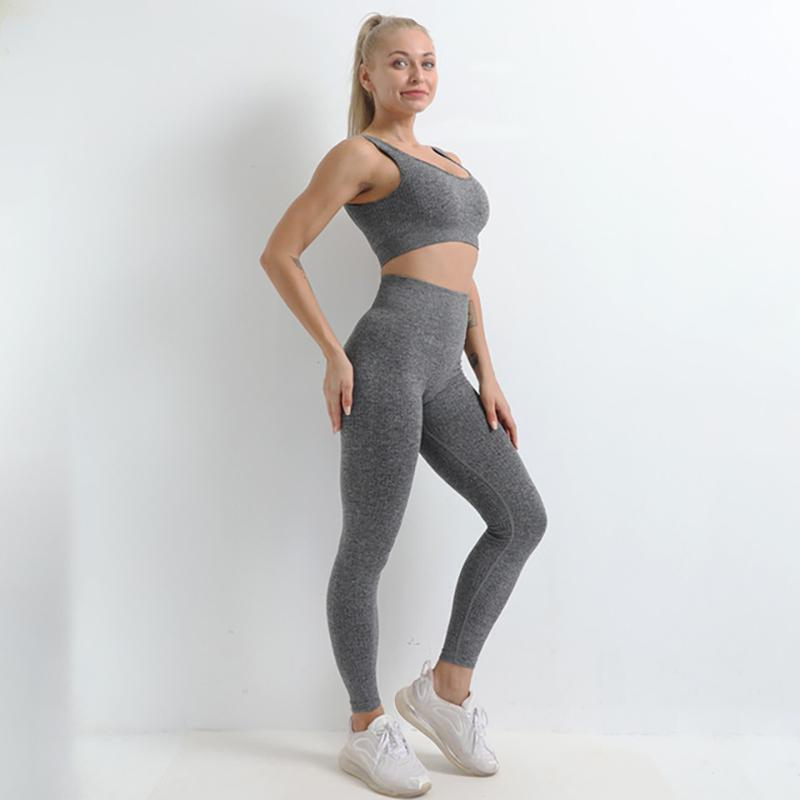 Yoga Outfits Backless Sport Suit Women Seamless Set Sexy Fitness Gym 2021 Sports Workout For Female Sportswear