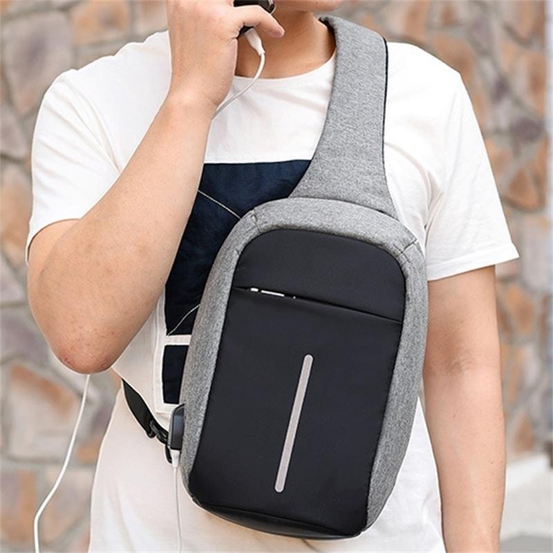 Sacs d'éclats de toile multifonctions pour femme, homme anti-vol des sacs messenger, sac à poitrine de la femme, sac à bandoulière rechargeable, Z97 Y201224