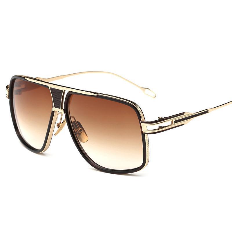 Diseñador para hombres Sun Retro Brand Square Women 2021 Gafas Vintage Mirror de gran tamaño Lujo Gafas de sol Claras de lujo Santa JWQBQ LDAJX