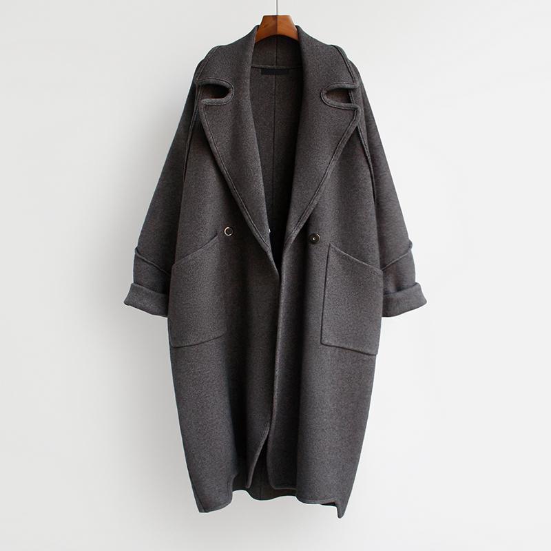 [EWQ] Medio Long Neck Collo Cardiga Cardiga Allentato e addensato Maglione Donne Casual Style New Fashion Tide 2020 Autunno GD1020