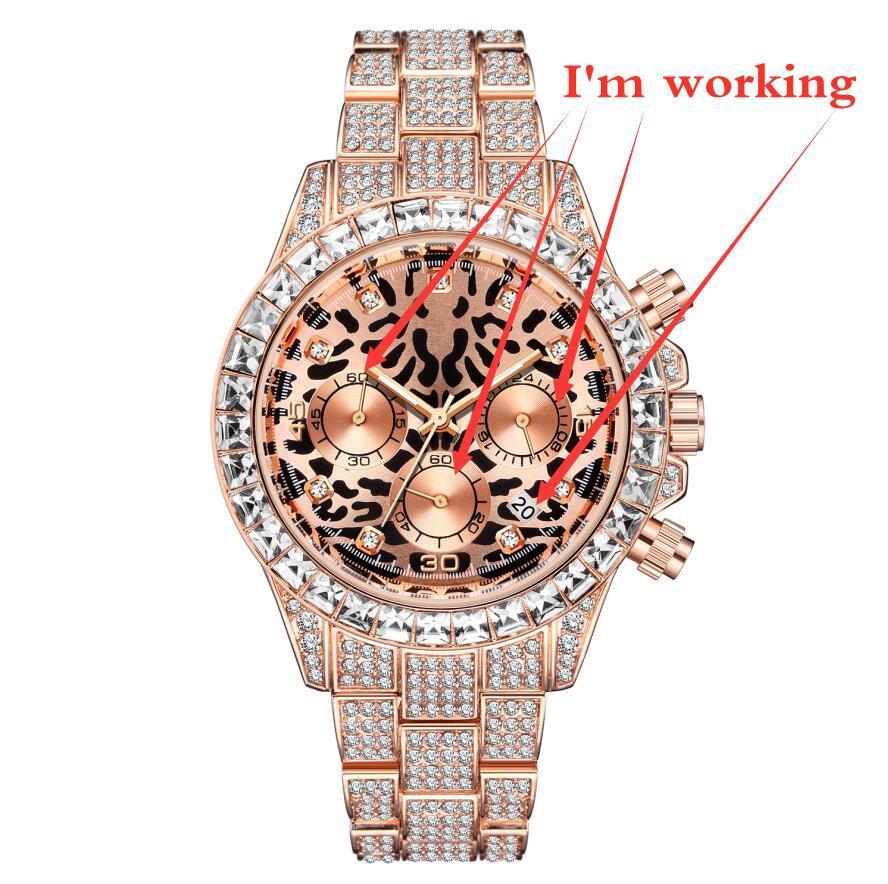 Montre de mode pour hommes de luxe Genève True Trois Yeux 6 Pointeur Multi-Fonction Calendrier Montre Quartz Quartz Watch