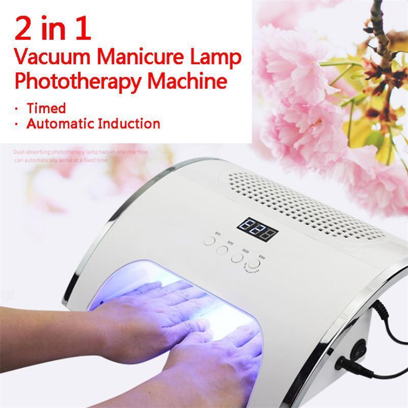 Neue Zwei in einer intelligenten Induktion LED-Vakuummaniküre-Lampe Phototherapie-Maschine Automatisches Timing USB-Nagelkleber Backlampe