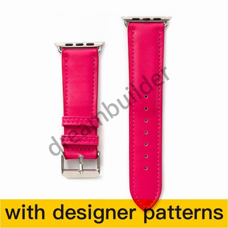 Watchbands fashion for apple watch band 42mm 38mm 40mm 44mm iwatch 1 2 345 العصابات الجلود حزام سوار الأزياء المشارب