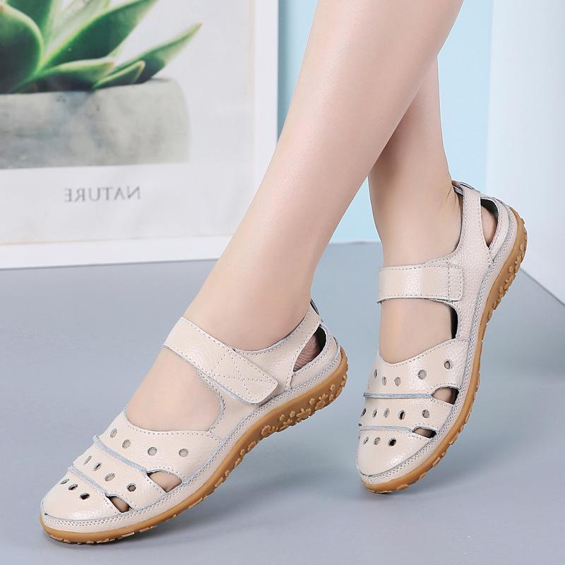 Sandalen Leder Komfortable Strand Frauen Schuhe 2020 Neue Mode Damen Lässige Damen Sneakers Große Größe Q1217