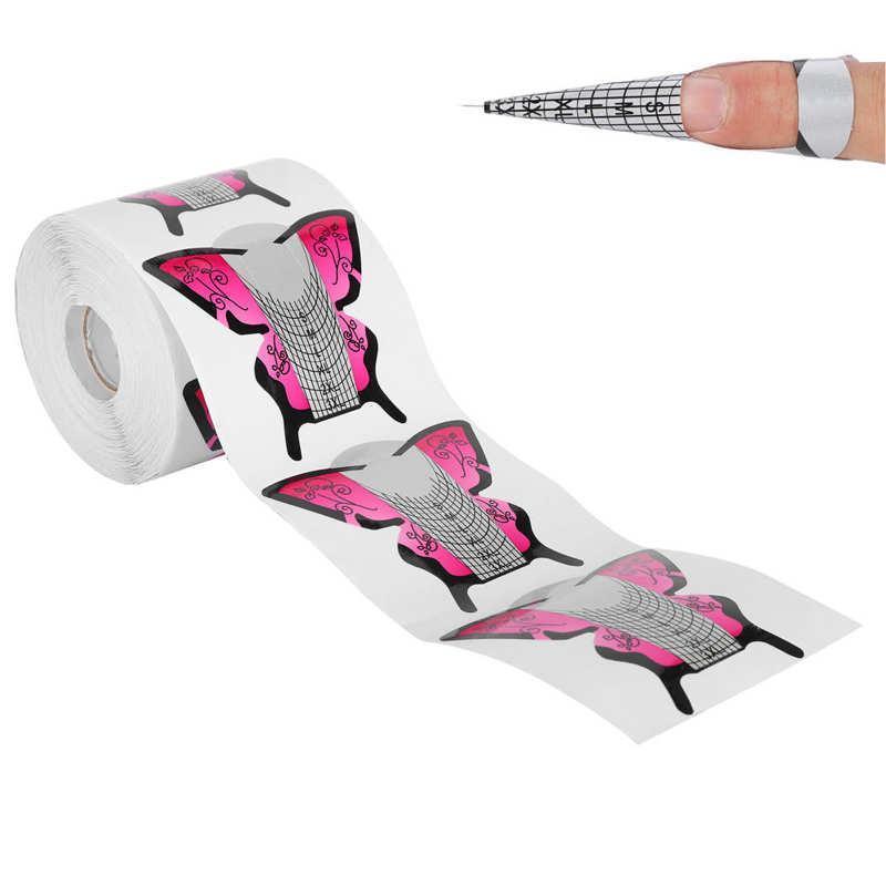 300pcs / set Nail Form Formulário de Extensão de prego DIY auto-adesivo manicure art extensão formulário para arte