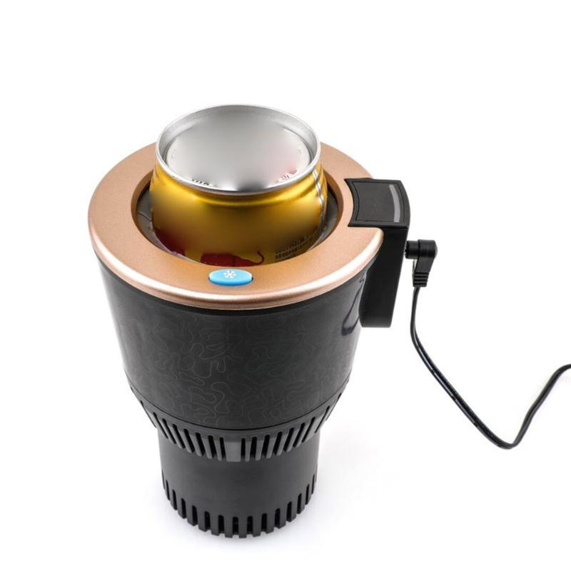 Titular de bebidas de la taza de automóvil de auto inteligente portátil para la leche de bebidas de café con agua con calentador de temperatura de la pantalla Hervidor de enfriador