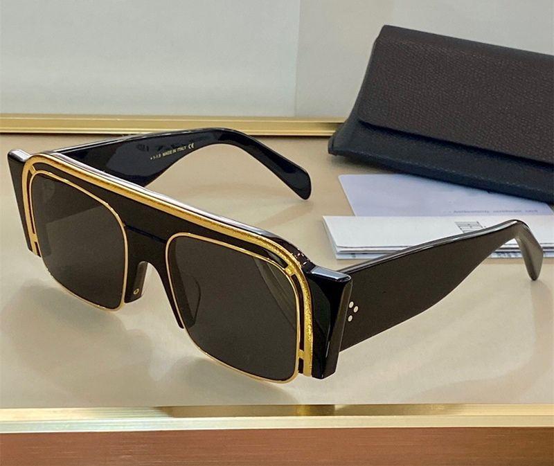 4046 Novos óculos de sol vintage Audrey Moda Mulheres Quadrado Quadro Flap Topo Sunglasses Leopard Plank Frame vem com pacote Topo Qualidade 4046o