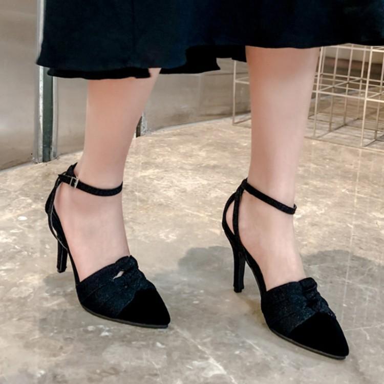 Bombas tamanho grande senhoras saltos altos mulheres sapatos mulher sapatos único salto alto altos azul Patchwork Belas-salto
