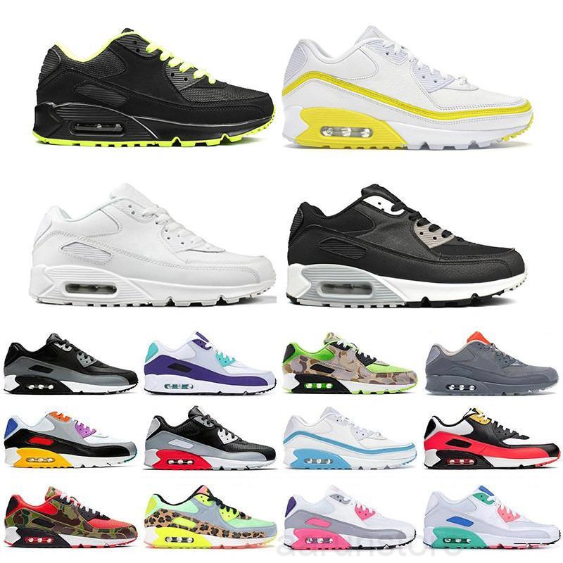 Высокое качество 2021 новая воздушная подушка 90 повседневная обувь дешевые мужчины женщины черный белый Air90 классические дизайнеры воздуха тренер на открытом воздухе спортивная обувь K2R5