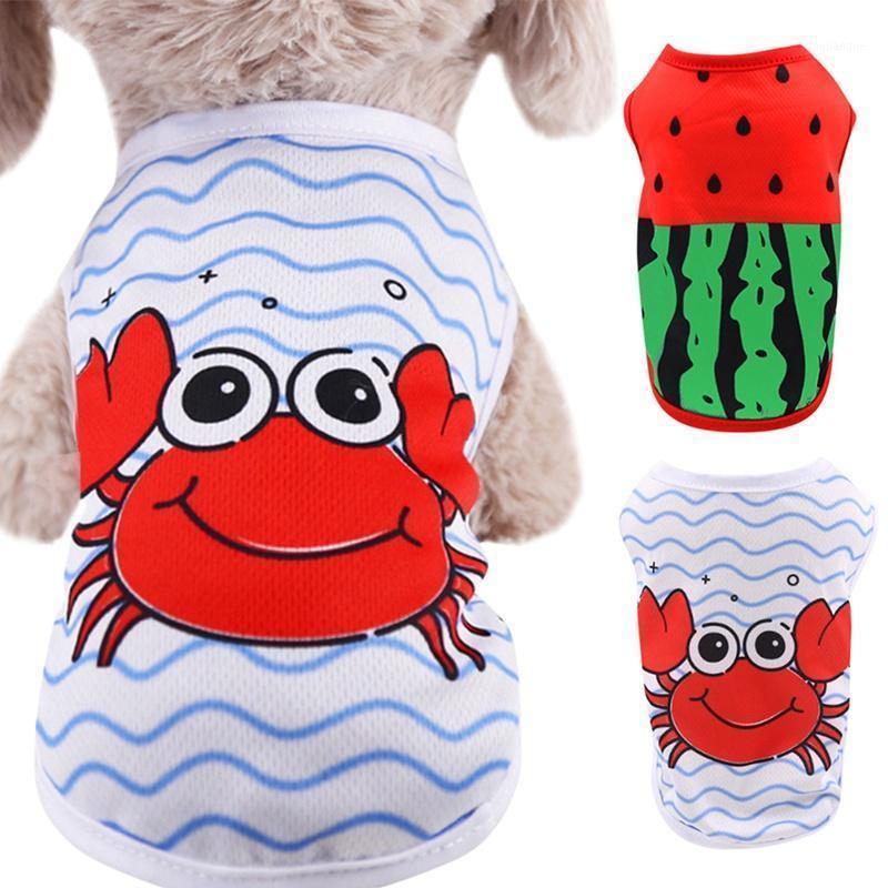 Sommer Haustierkleidung Weste Fashion 2 Beinige Weste Polyester Kleidung Hund Sleeveless T-Shirt1