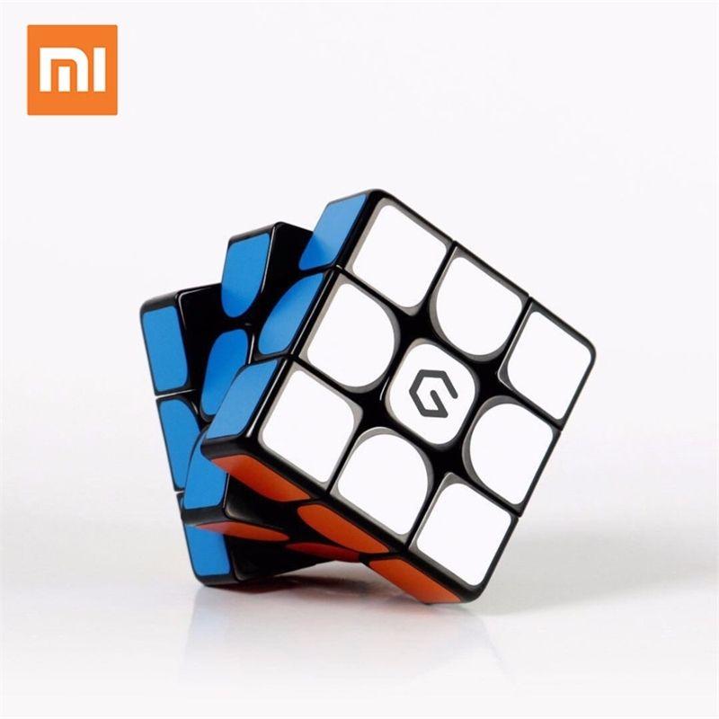 الأصلي xiaomi mijia giiker M3 المكعب المغناطيسي 3x3x3 حية اللون ساحة ماجيك مكعب لغز تعليم العلوم العمل مع تطبيق Giiker Y200428