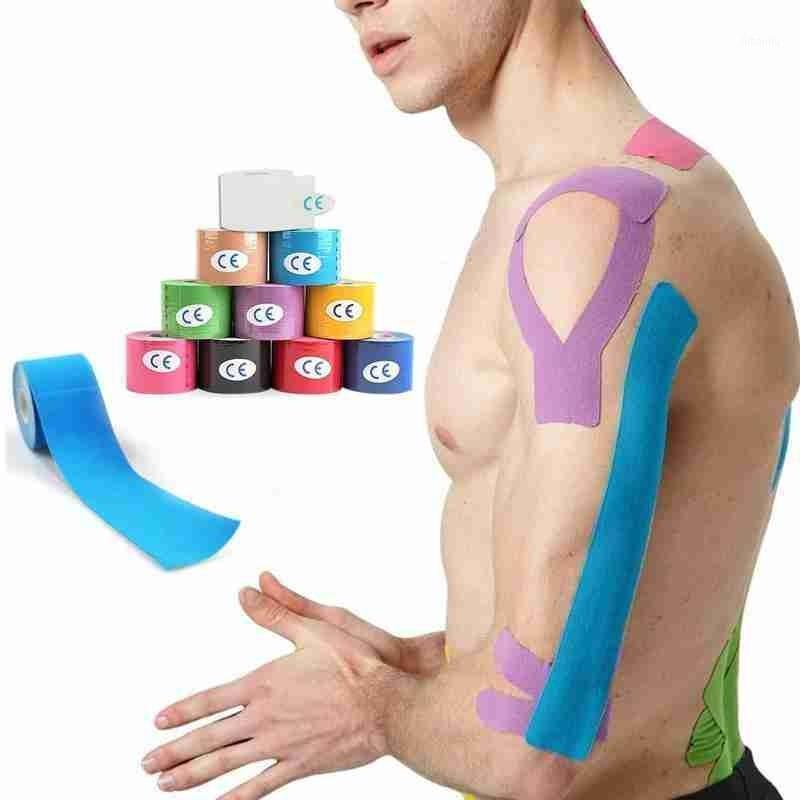 Локоть коленные колодки спорт атлетика эластичная кинезиология мышечной ленты скобка поддержки защитника Bandage Kinesio Fixer браслеты1
