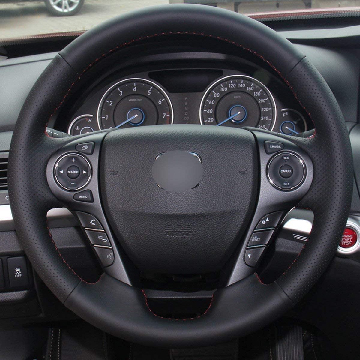 DIY CUERO GENUINO AUTOMÓVIL CUBIERTAS DE VÍAS AUTOMÓVILES PARA HONDA ACCORT SPORT Touring EX-L 2013-2017 / CROSSTOUR EX-L 2013 -2015 Accesorios