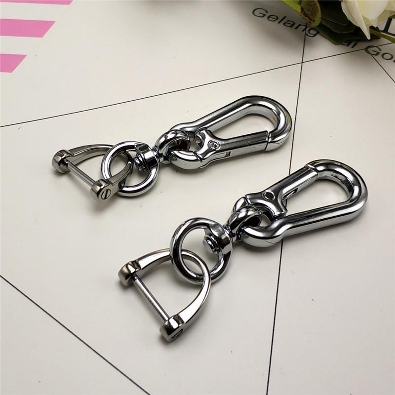 Car Key Chain Male Alloy Auto Parts Business Gift 8-button Horseshoe Buckle Metal Pendant
