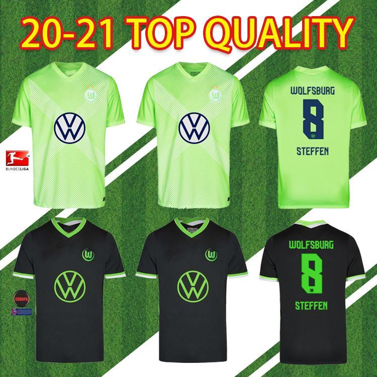 20 21 VFL Wolfsburg Fans نسخة Whagorst 2020 2020 2021 Steffen Brekalo كرة القدم قميص أرنولد Xver الرجال + أطفال كيت جيرسي