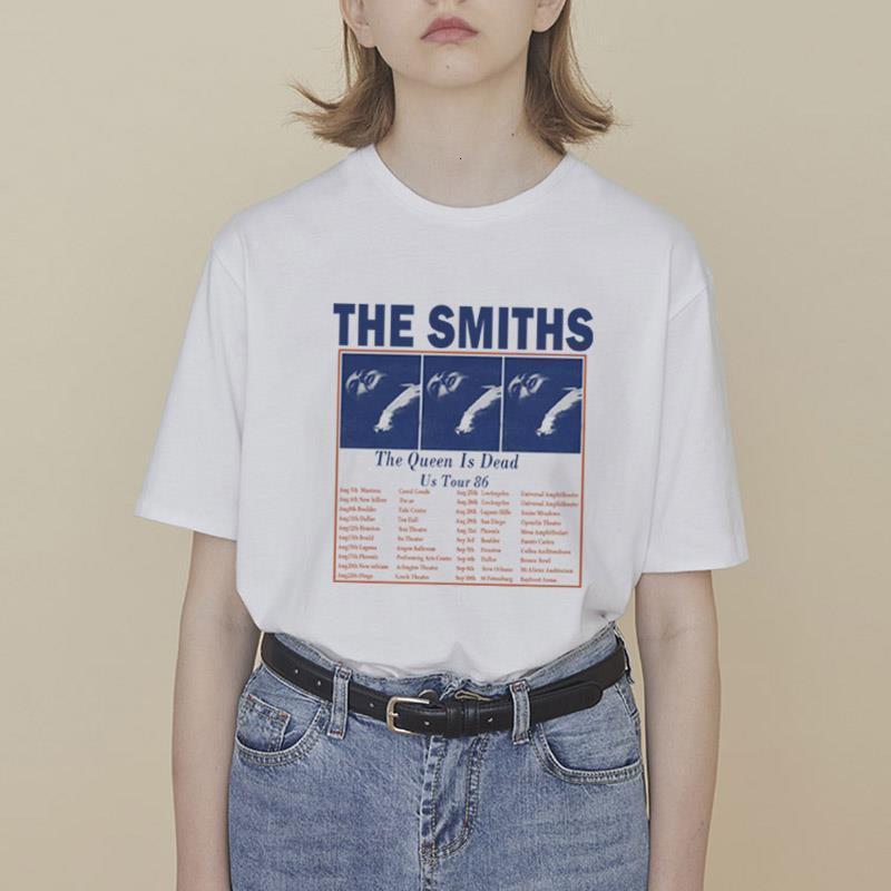 Smiths Print летние женщины мода футболка с коротким рукавом свободная случайная личность harajuku tumblr top tees femme плюс размер