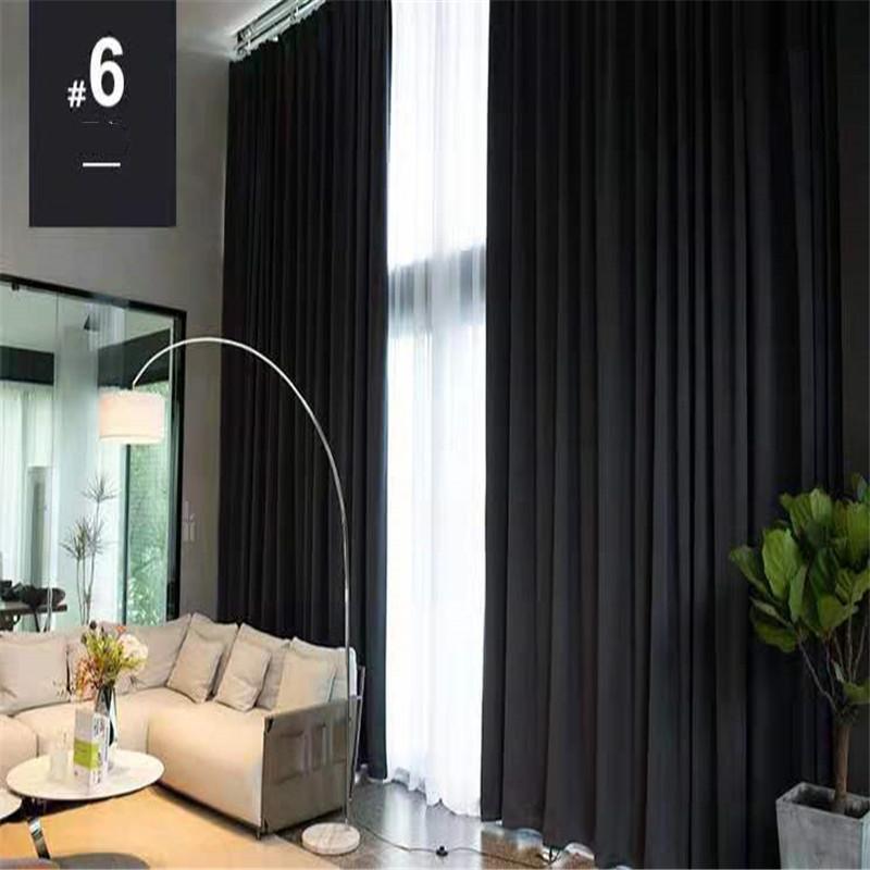 2.8 * 2.2m Schattiervorhang für Schlafzimmer von Doppelwäsche Esszimmer Installation Nordic Flachs Solide Meteorvorhänge