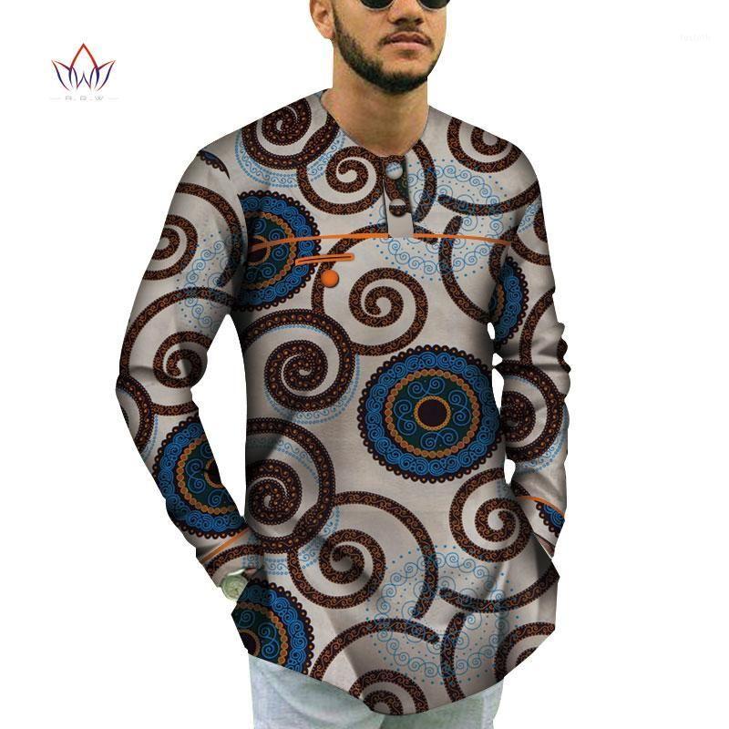 100% algodão homens de manga curta topes roupas africanas bazin riche design africano roupas casuais mens impressão top shirts wyn7911