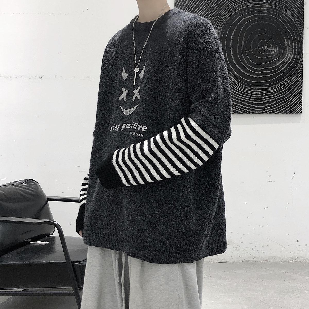Привашнечник 2020 осень новый мужской свитер повседневная негабаритная мода корейская уличная одежда одежда женщина зима хип-хоп пуловеры