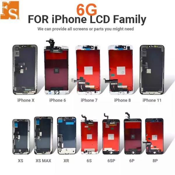 تم تجديده الأصلي أعلى جودة اختبار LCD لفون 6 شاشة LCD شاشة محول الأرقام مع شاشة تعمل باللمس التجمع
