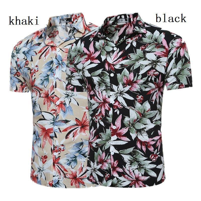 Мужские повседневные рубашки Zogaa мужская рубашка с коротким рукавом умный износ моды классическое платье цветочные напечатанные летние уютные гавайские мужчины одежда