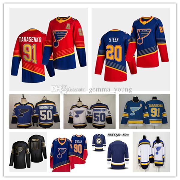 세인트 루이 블루스 2021 Revery Retro Jersey Hockey Robert Thomas Brayden Schenn Vladimir Tarasenko Ryan O'Reilly Jaden Schwartz Binnington