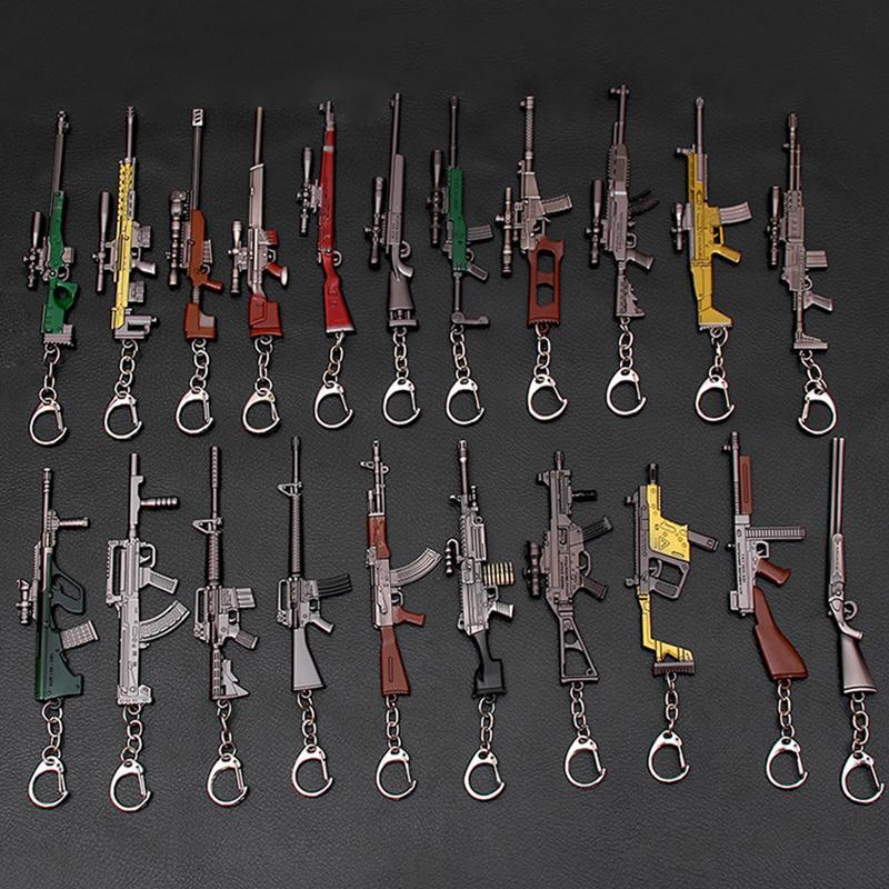 Spielwaffe Spielzeug Schlüsselanhänger Anhänger 10-12cm Hot Game 3D Gun Modell Keychain Kinder Spielzeuggewebe Zubehör C2397